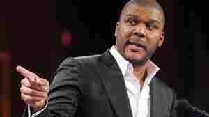 Director Tyler Perry speaks onstage in New York City. Perry's work has come under criticism by veteran filmmaker Spike Lee.