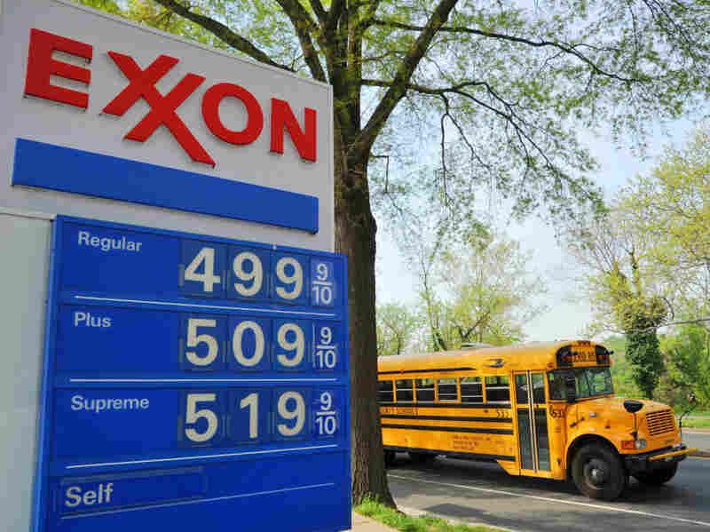Gas prices in April in Washington, D.C. reach $5 a gallon.