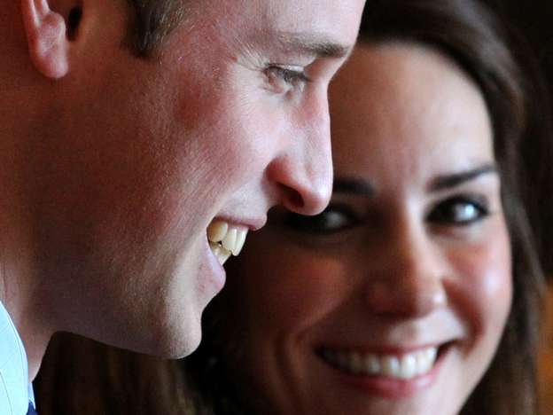Prince William and Kate Middleton during a visit to the St. Andrews Museum.