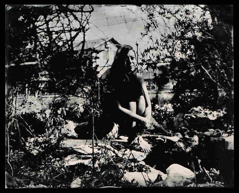 Angeliska, in her garden, Austin, Texas
