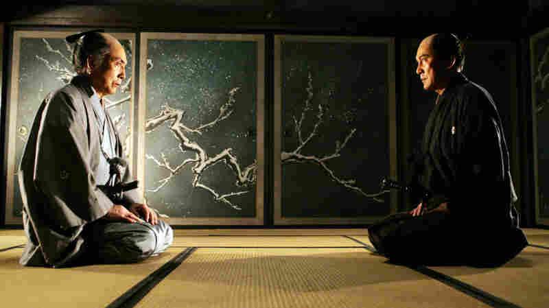 The veteran samurai Shinzaemon (Koji Yakusho, right, with Mikijiro Hira) is recruited out of semi-retirement to plan — and execute — the villain's demise.