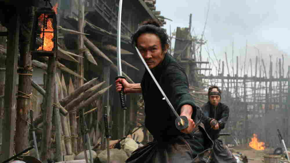 Honor among 'Assassins': A one-time student (Tsuyoshi Ihara, left) and a young warrior-in-training (Masataka Kubota) join the former's teacher, Shinzaemon, in a quest to rid 19th-century Japan of a sadistic warlord.