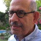 Mohamed ElBaradei, in the garden of his Cairo home earlier today (April 25, 2011).