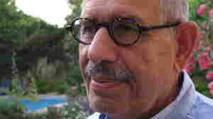 Mohamed ElBaradei, in the garden of his Cairo home earlier today (April 25, 2011).