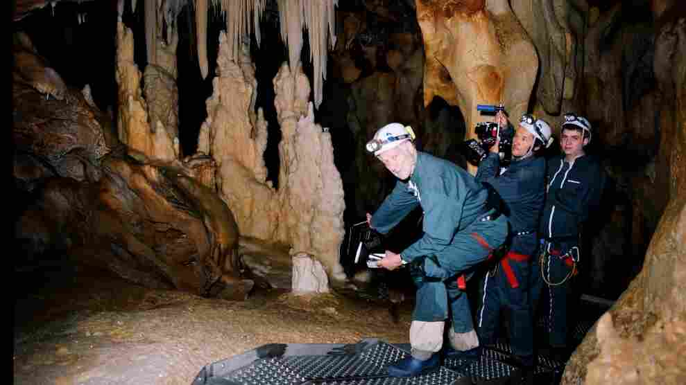 Mind the gaps: Director Werner Herzog was allowed to film some of the world's oldest known cave paintings for his latest documentary — but under strict conditions, and within severe physical and technological limits.