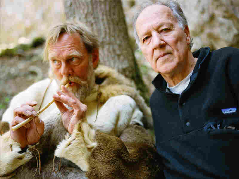 To fill out the full-length documentary, Herzog interviewed a variety of oddball characters, including a pelt-wearing, bone-flute-playing enthusiast named Wulf Hein (left).