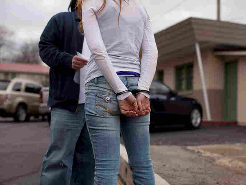 A young woman is arrested for prostitution on Dickerson Road in Nashville.
