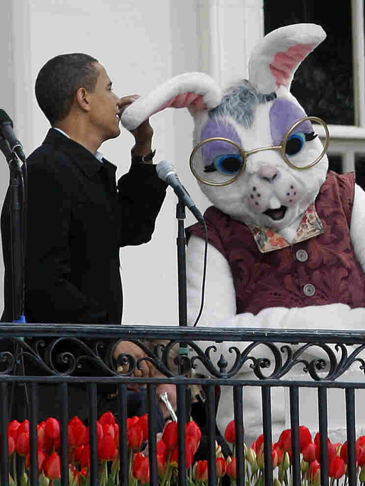 President Obama and the Easter Bunny, Monday, April 25, 2011.