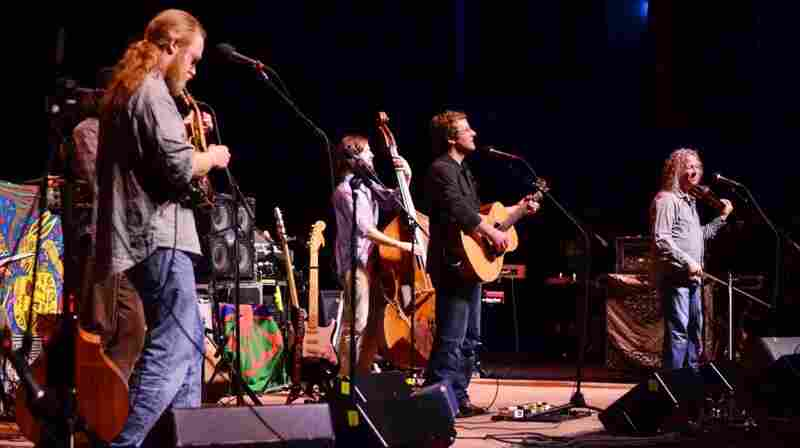 Railroad Earth performs on Mountain Stage.