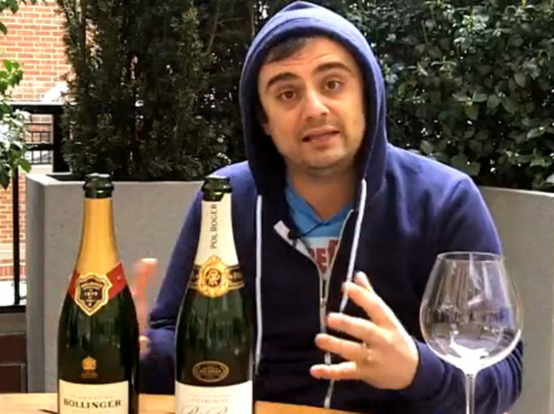 "Gary Vaynerchuk <a href=""http://dailygrape.com/videos"">reviews wines</a>, including the official champagne of Prince William and Kate Middleton's wedding, for the Daily Grape. Vaynerchuk began video blogging wine reviews in 2006."