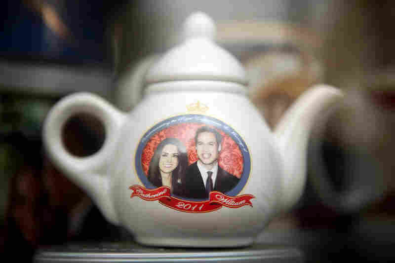 A royal wedding souvenir teapot is displayed for sale in London. While 46 percent of Britons were reported feeling anything but excited about the royal wedding, according to The Guardian newspaper, many Americans see the big day as a highlight of their week.