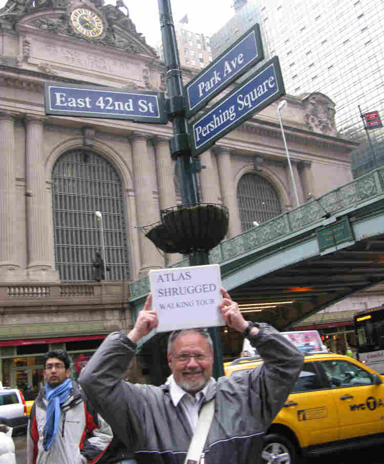 Frederick Cookinham runs five different Ayn Rand tours in New York, two of which touch on Grand Central Terminal.