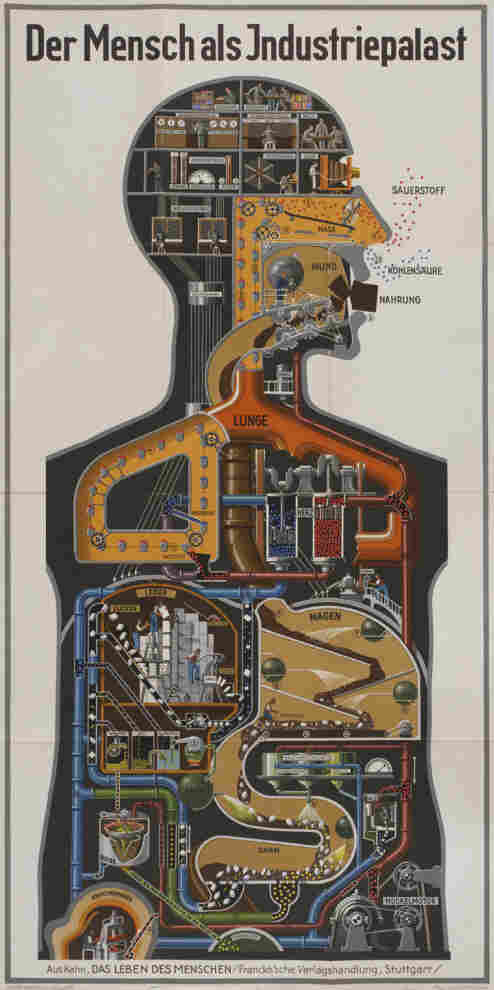 """""""Man as Industrial Palace"""" was printed in 1926, when Germany's chemical industry was the most advanced in the world."""