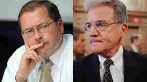 Grover Norquist (left), of the anti-tax lobbying group Americans for Tax Reform, and Sen. Tom Coburn (R-OK, right) have been in an unusually public spat. Coburn, who seven years ago signed Norquist's so-called Taxpayer Protection Pledge, now says a solution to the deficit could involve an increase in tax revenues.