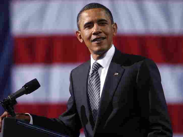 """President Barack Obama speaks at a fundraiser in Culver City, California. President's origin has once again been questioned in a resurgence of the """"birther"""" controversy."""