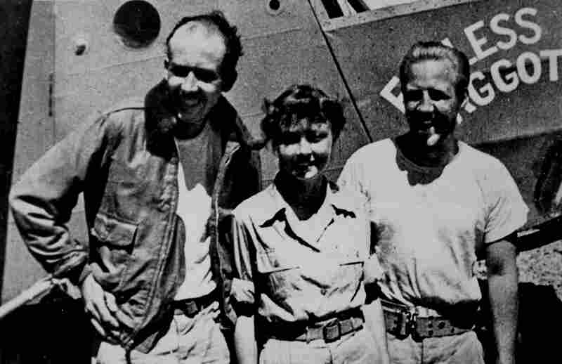 Sgt. Kenneth Decker (from left), Cpl. Margaret Hastings and Lt. John McCollom were the only three survivors of the Gremlin Special crash. They are pictured above at the U.S. Army station in Hollandia, New Guinea, shortly after their rescue.