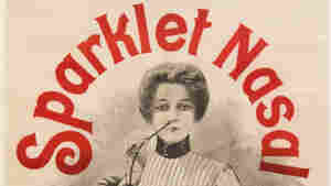 "Sparklet Nasal ""completely cures head colds"" and is ""invaluable for all ailments of the respiratory passages.""  All you have to do is stick something in your nose. (French, c. 1900-1905)"