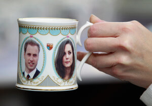 """Cheers! No wedding is complete without a toast. Nigella Lawson recommends a drink she's calling """"The Princess"""": fizzy wine or champagne with strawberry puree. Bonus points if you drink it out of a commemorative William and Kate mug."""