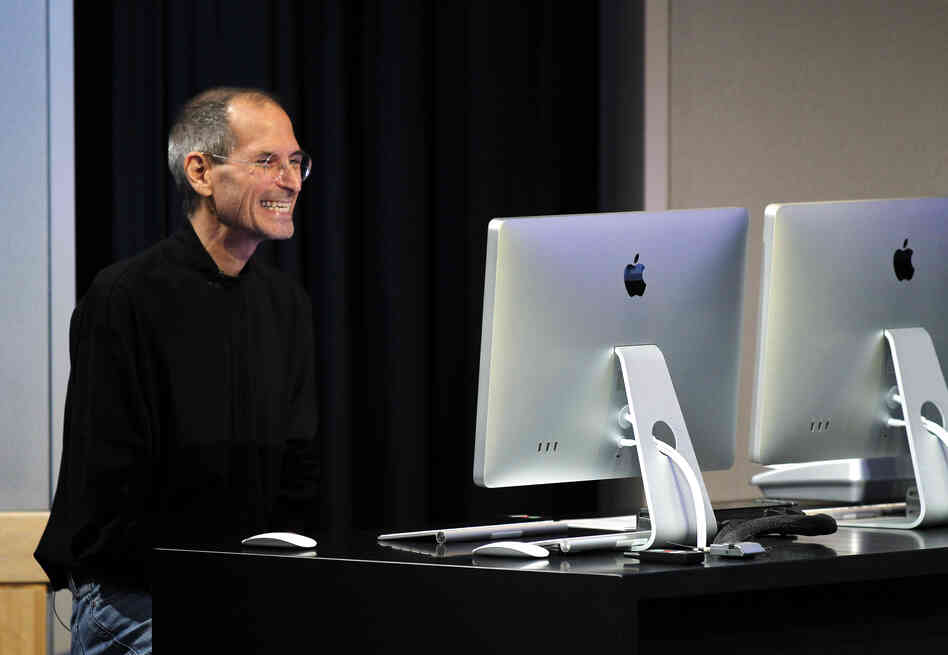 Apple CEO Steve Jobs demonstrates the company's FaceTime app in October.