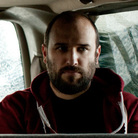 David Bazan (right), with bassist Andy Fitts (middle) and drummer Alex Westcoat (left).