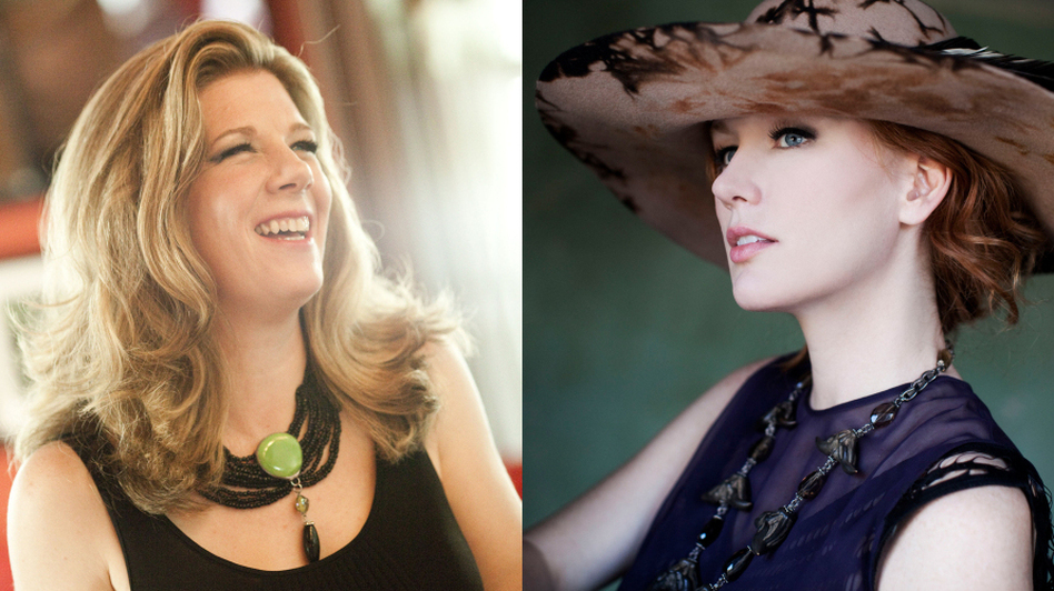 Dar Williams and Allison Moorer recently performed on World Cafe. (Courtesy of the artist)