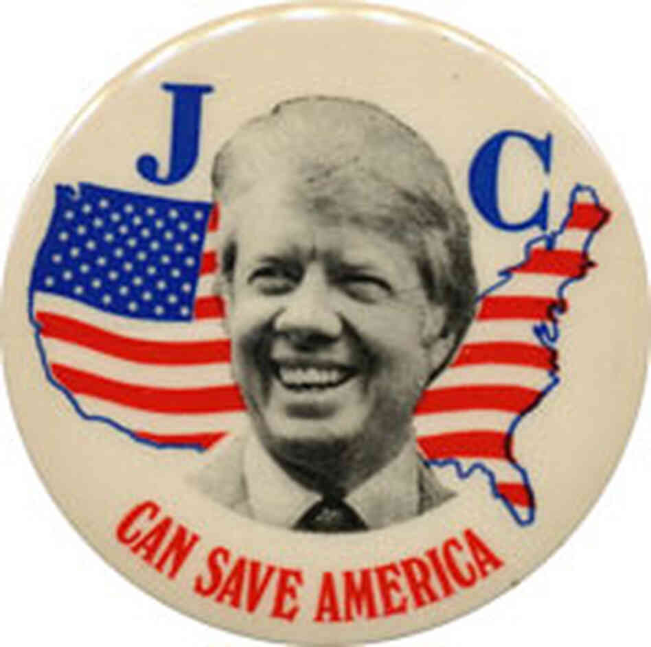 A campaign button for Jimmy Carter
