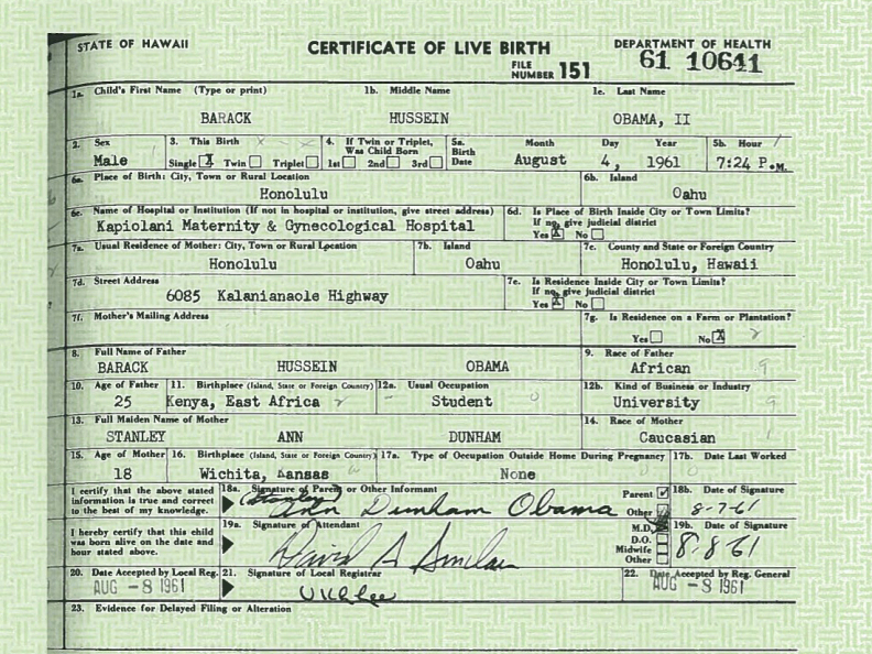 White House Releases Obama\'s Birth Certificate; He Slams \'Carnival ...