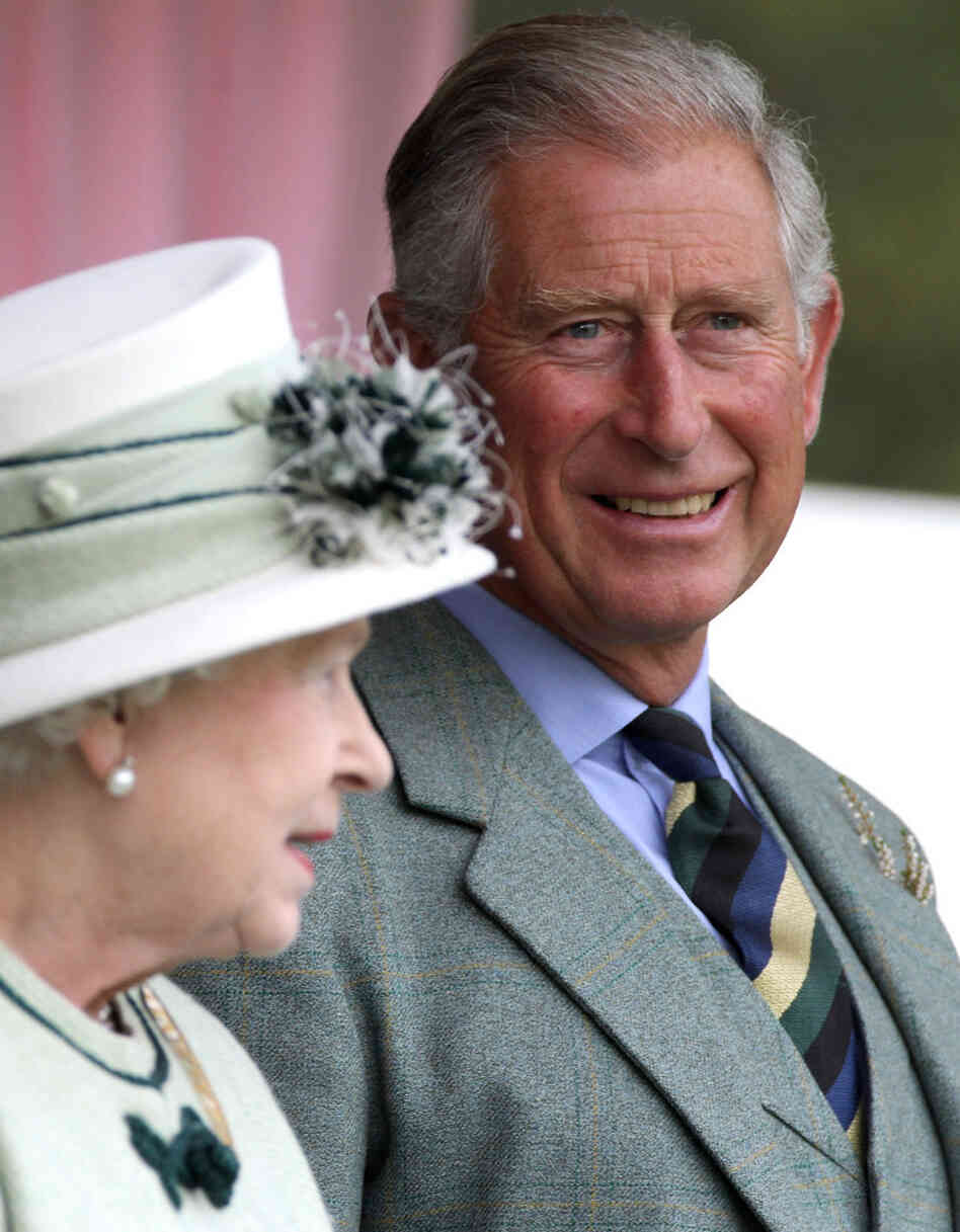 Queen Elizabeth and Prince Charles, last September in Scotland.