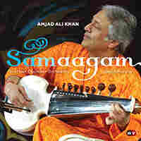 Cover art for Samaagam, by Amjad Ali Khan.