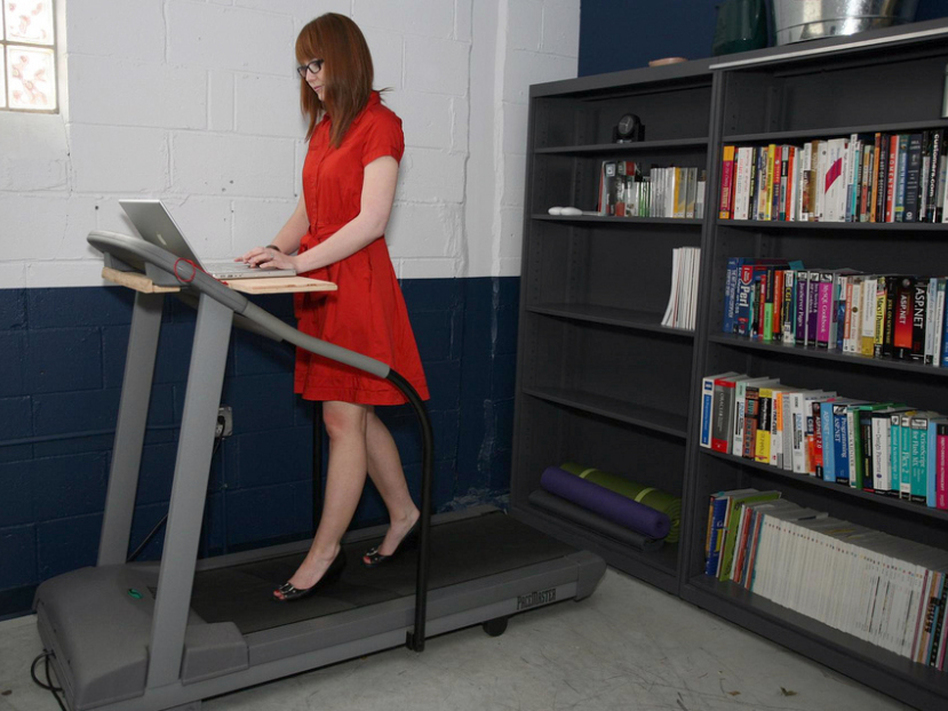 Treadmills desks can be built at home as long as you have a treadmill.