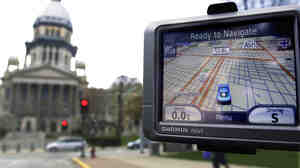 TomTom manufactures GPS navigation devices like this one from its competitor Garmin.