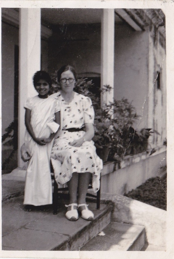 The author's great-aunt Edith, a missionary who spent 40 years of her life in India. This photo was taken at the Mirzapur Missionary Compound outside Varanasi, India.