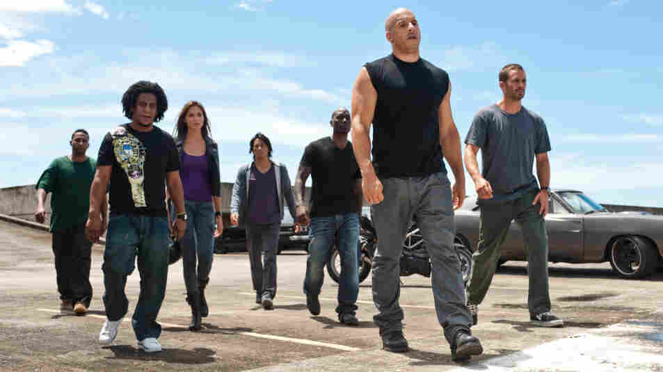 The cast of Fast Five, the latest film in the Fast and the Furious franchise.
