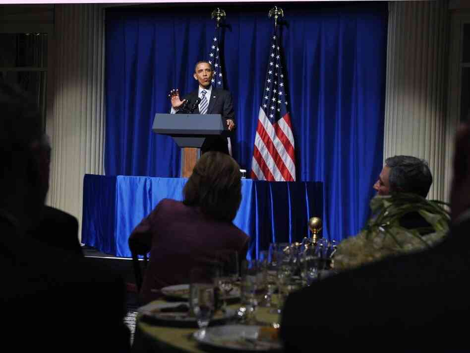 President Obama made light of the birther controversy at Democratic fundraisers in New York.