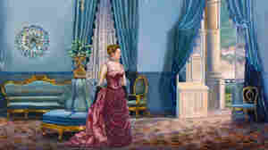 Grover Cleveland, the only President to get married in the White House, married 21-year-old Frances Folsom, above, in the Blue Room in 1886. The blue furniture, as shown in Waddell's painting, Something Blue, is still in the White House collection. Click here to explore the painting.