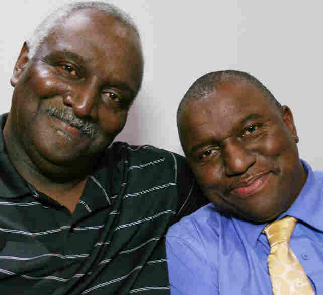 Dwight Thompson (above right) spoke about The Kissing Case with his brother, James Hanover Thompson — and with his sister, Brenda Lee Graham (below). They spoke at StoryCorps in Wilmington, N.C.