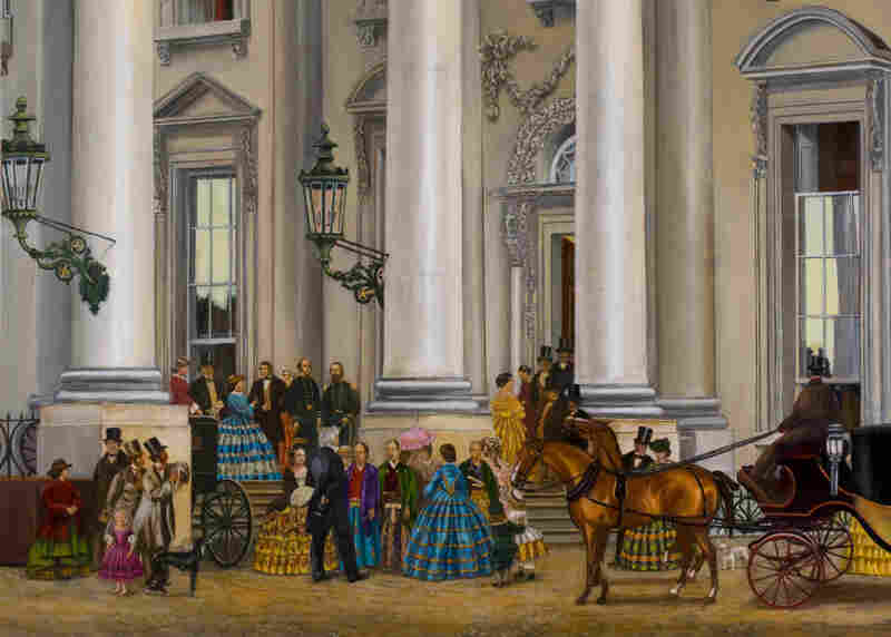 "In 1860, President James Buchanan welcomed a delegation of three Japanese samurai. They noted that the White House lacked towers and a moat, but conceded it was ""handsomely furnished."" You, too, can see inside the White House as it looked in its first 200 years in an interactive at the White House Historical Association website."