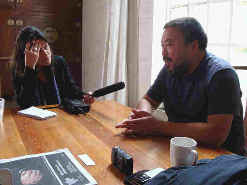 In 2008, NPR's Laura Sydell sat down with artist Ai Weiwei at his studio in Beijing, where he kept his camera at arm's reach.