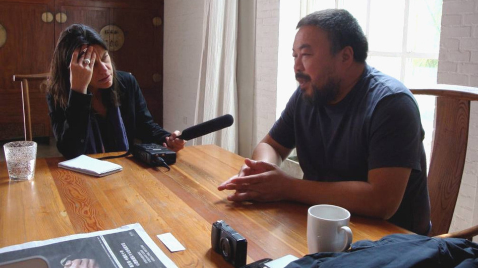 In 2008, NPR's Laura Sydell sat down with artist Ai Weiwei at his studio in Beijing, where he kept his camera at arm's reach. (Jeff Kelley)