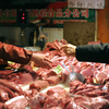 Pork is sold in a market in Beijing.