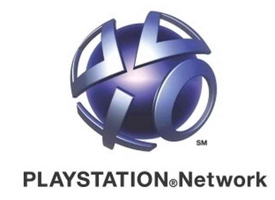 Playstation Network logo.