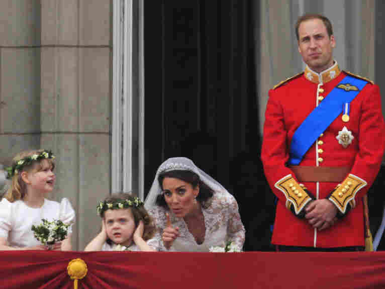 Kate, now the Duchess of Cambridge, and little Grace van Cutsem.