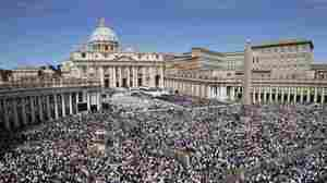 Pope Benedict XVI beatifies Pope John Paul II before more than 1 million faithful in St. Peter's Square on Sunday, moving the beloved former pontiff one step closer to possible sainthood.