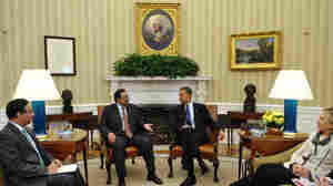 Pakistan President Asif Ali Zardari speaks at a meeting with President Obama in January 2010 in the Oval Office of the White House. The United States' tense relationship with Pakistan is likely to endure more strain after Osama bin Laden was killed in  a compound in Pakistan.