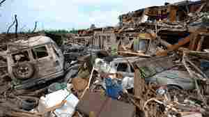 Tornado wreckage in the Alberta City neighborhood of Tuscaloosa, Alabama