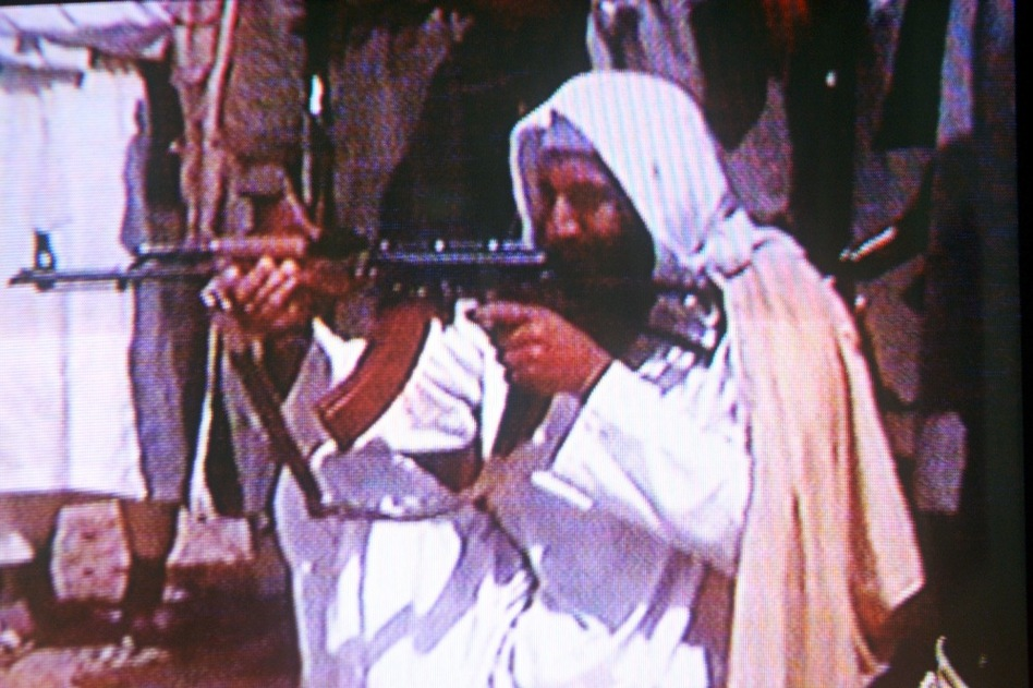 In 1996, bin Laden openly declared war on America, calling on his followers to expel Americans and Jews from all Muslim lands. Bin Laden is seen here in an undated photo taken from a television image.  (Getty Images)
