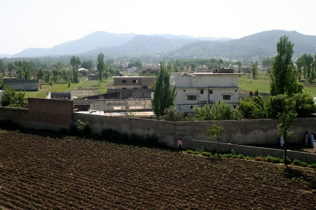 Osama bin Laden's compound is seen in Abbottabad, Pakistan, on Tuesday, after the U.S. military raid early Monday that ended with the death of the al-Qaida leader.  (AP)