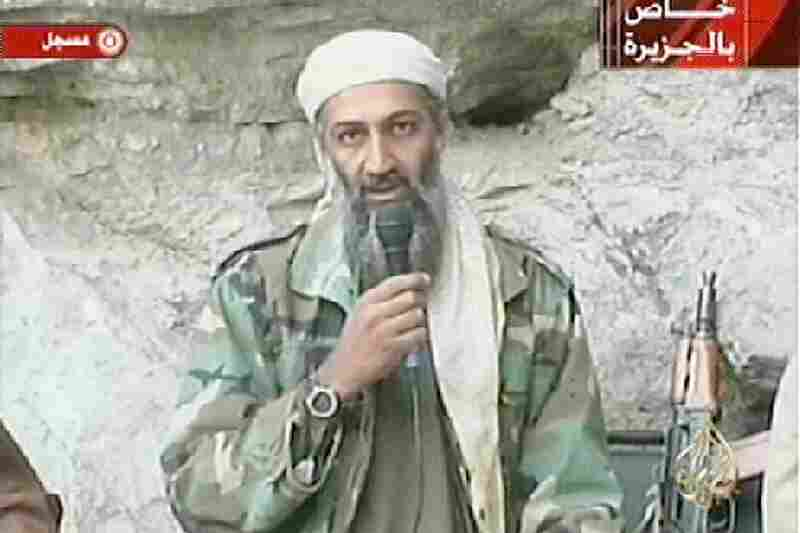 Bin Laden was long thought to be hiding in Afghanistan or Pakistan. The FBI placed a $25 million bounty on his head, but he eluded capture for over 10 years. Bin Laden is seen in this video grab recorded at an undisclosed location in Afghanistan, which aired on Al-Jazeera on Oct. 7, 2001.