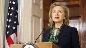 Secretary of State Hillary Clinton speaks following the death of Osama bin Laden, Monday, May 2, 2011.