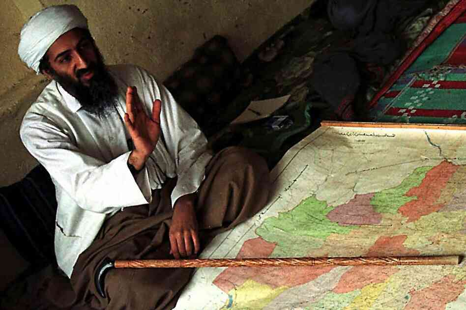 After the Soviets withdrew from Afghanistan in 1989, bin Laden, seen here in Afghanistan in April 1998, returned to Saudi Arabia. His citizenship and passport were revoked because of his criticism of the royal family. He relocated to Sudan, where he focused on expanding al-Qaida, building terrorist training camps and forging ties with other militant Islamic groups.